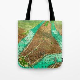 Retro New York Print Tote Bag