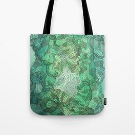 Green Blobs Tote Bag