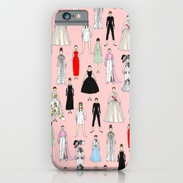 Think Pink Outfits Fashion Audrey iPhone Case