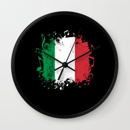 Italy Flag Music Wall Clock