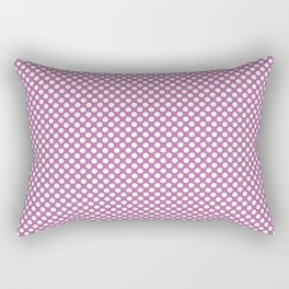 Bodacious and White Polka Dots Rectangular Pillow