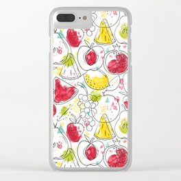 Fruitopia Clear iPhone Case