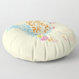 North America ~ Writing Sistems Floor Pillow