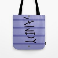 buzz lightyear Tote Bags featuring Buzz Lightyear Boot by redastherose