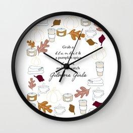 A Gilmore Girls Autumn Wall Clock