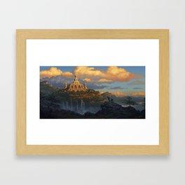 Beyond the Coastal Rift Framed Art Print