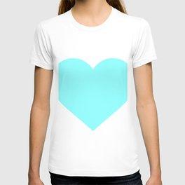 Heart (Aqua & White) T-shirt
