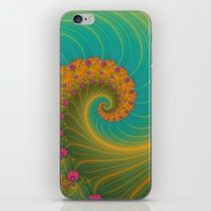 Vortex on Poppy Row in Orange and Turquoise iPhone & iPod Skin