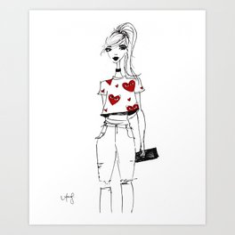 Brooklyn Hearts Art Print