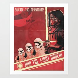Join The First Order! Art Print
