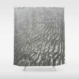 Imprints of Ripples Shower Curtain