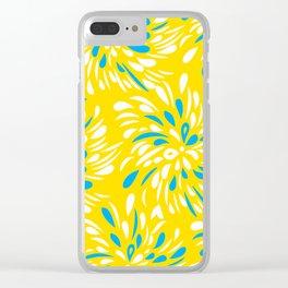 RAIN DROP TEAR DROP FLOWER SWIRLS Clear iPhone Case