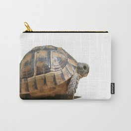 Sideview of A Walking Turkish Tortoise Isolated Carry-All Pouch