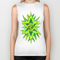 rasta Biker Tanks featuring RASTA STAR by EclecticArtistACS