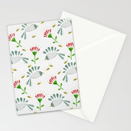 Bees, Tropical Flowers, Birds Stationery Cards