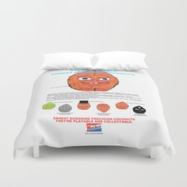 Ernest Borgnine Coconuts - Collect Them All! Duvet Cover