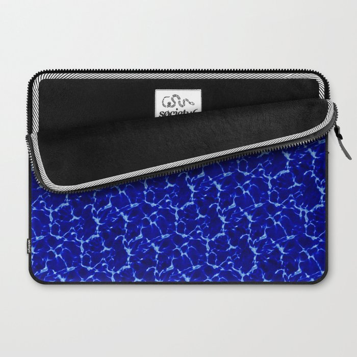 Hyperlink Deep Blue – '90s Water Graphics Laptop Sleeve