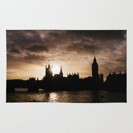 View over Westminster, Big Ben, London at Sunset Rug