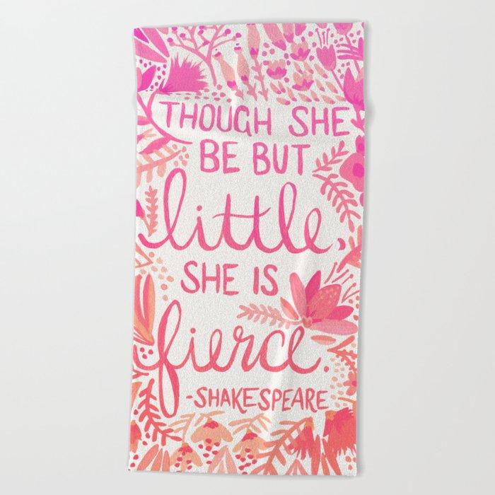 Little & Fierce – Pink Ombré Beach Towel