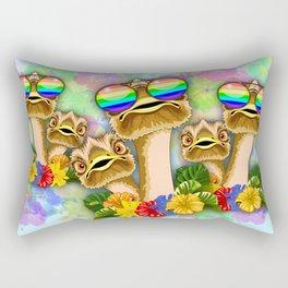Ostrich Hawaii Fashion Funny Dudes Rectangular Pillow
