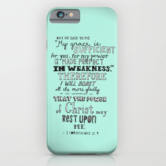2 Corinthians 12:9 iPhone & iPod Case