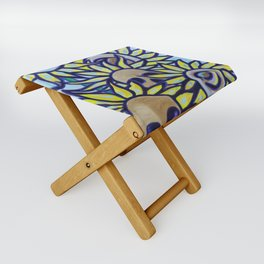 S is for Sunflowers and Skulls Folding Stool