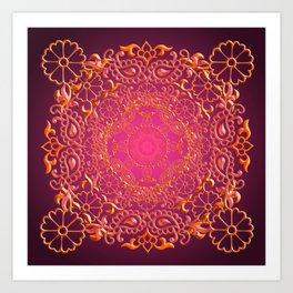 Sari Sunset Art Print