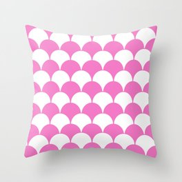 Fan Pattern 321 Pink Throw Pillow
