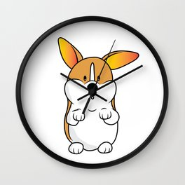 Corgi Puppy Wall Clock