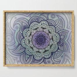 Mandala Violet Serving Tray