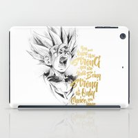 dragonball iPad Cases featuring Dragonball Z - Strenth by Straife01