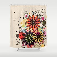 blossom Shower Curtains featuring Blossom by Kakel