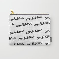 GOOD VIBES - CONFIDENT white Carry-All Pouch