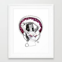 charmaine olivia Framed Art Prints featuring Dream Girl: Charmaine by Karlyfries Studios