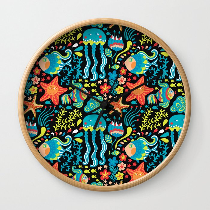 Water life pattern Wall Clock