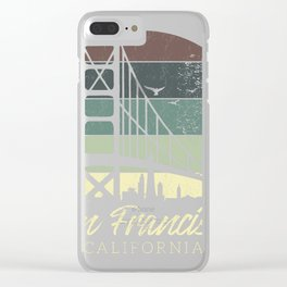 San Francisco Gold Gate Bridge Gift product Clear iPhone Case