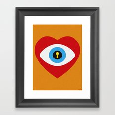 SPY LOVE Framed Art Print
