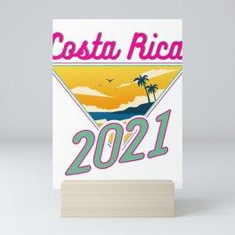 Costa Rica Vacation 2021 Fun Vacation Traveler Gift Mini Art Print