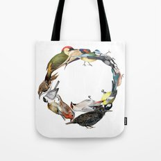 Bird Wreath Tote Bag