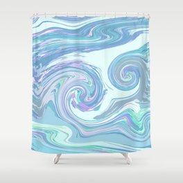 LIGHT BLUE MIX Shower Curtain