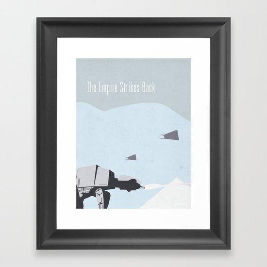 Empire Strikes Back movie poster. Framed Art Print