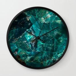 Cracked Teal Sugar Wall Clock