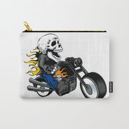 skull rider ride a motor cycle Carry-All Pouch