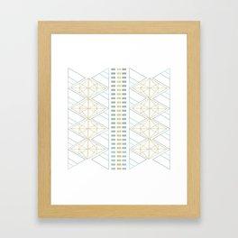Gold Aqua Geometric Pattern 1.0 Framed Art Print