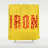 ironman Shower Curtains featuring IRONman  by Kramcox