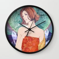 diamonds Wall Clocks featuring Diamonds by Ryan Haran