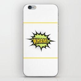 WHAM! Comic Book iPhone Skin