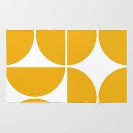 Mid Century Modern Yellow Square Rug