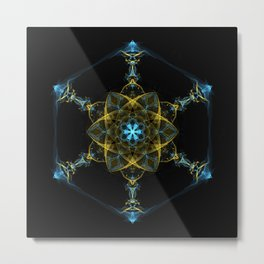 The Beginning of Life Mandala Metal Print
