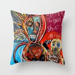 Dance to the life street art graffiti Throw Pillow